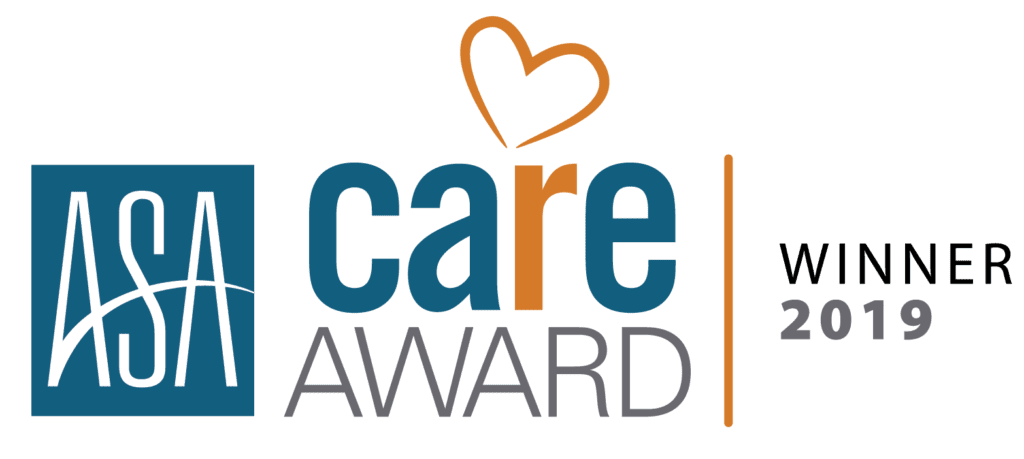 ASA Care Award Winner 2019