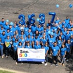 Avionte employees celebrating 8th year as Inc 5000 fastest growing companies